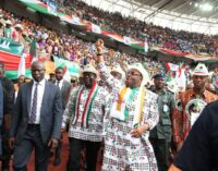 PHOTOS: Massive crowd as Akwa Ibom governor declares for second term