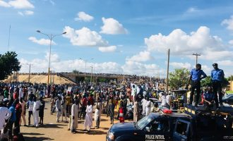 PHOTOS: Massive crowd as Wamakko tests APC's popularity in Sokoto