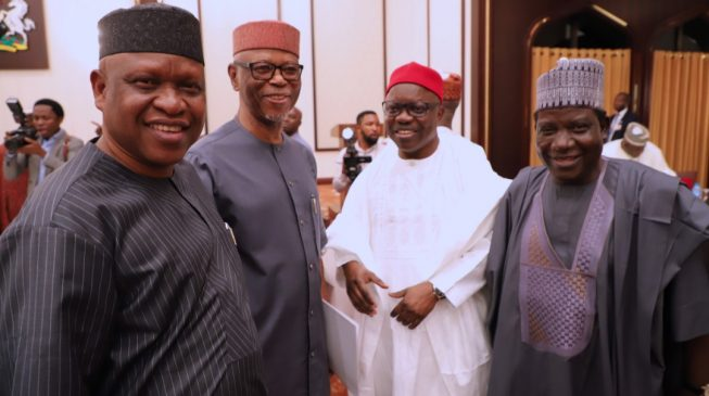 Uduaghan attends APC caucus meeting at Aso Rock