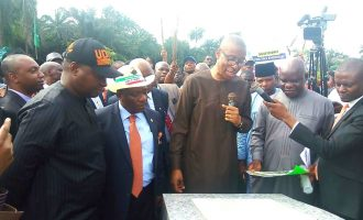 Enelamah represents Buhari at commissioning of Akwa Ibom flood control project
