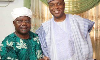 Osun rerun: Saraki storms Ife, woos Omisore for PDP