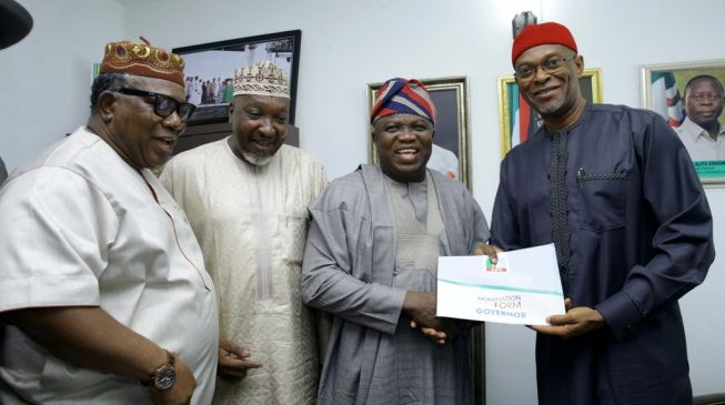 PHOTOS: Ambode picks APC nomination form