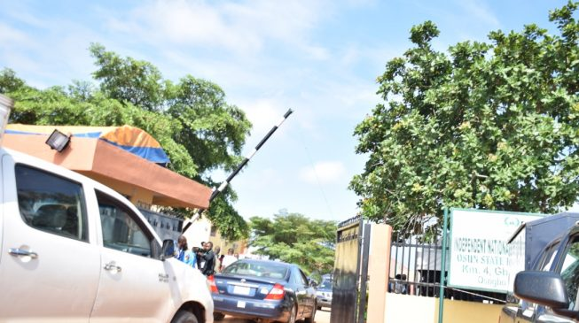 PHOTOS: Security beefed up at Osun INEC office