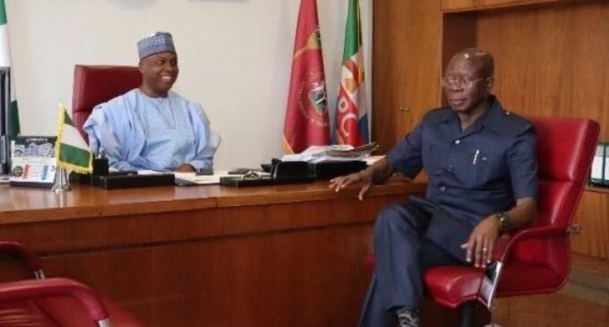 Saraki asks Oshiomhole to resign