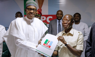 Buhari submits nomination form, asks APC leaders to prepare for 2019
