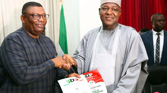 Dogara storms PDP headquarters, announces exit from APC