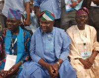 Tongues wagging as Ambode, Sanwo-Olu walk into APC convention side by side