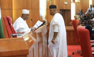 Akpabio asks Saraki to resign after disagreement over sitting arrangement