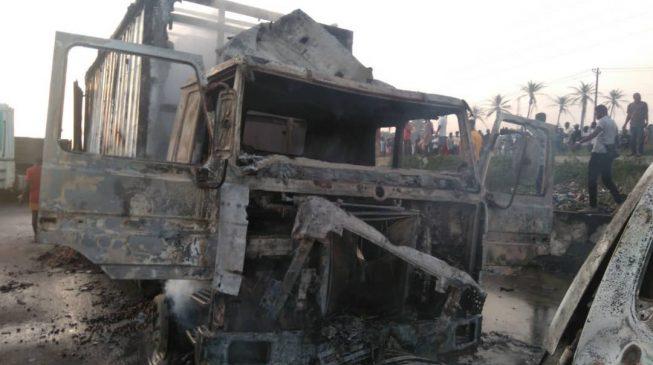 Witnesses speak on tanker explosion in Lagos