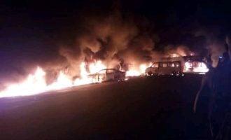 Shops, vehicles razed as petrol tanker explodes in Akure