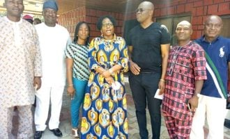 Fayemi's wife leads transition committee to visit Fayose