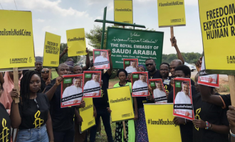 PHOTOS: Activists march to Saudi embassy in Abuja over Khashoggi's death