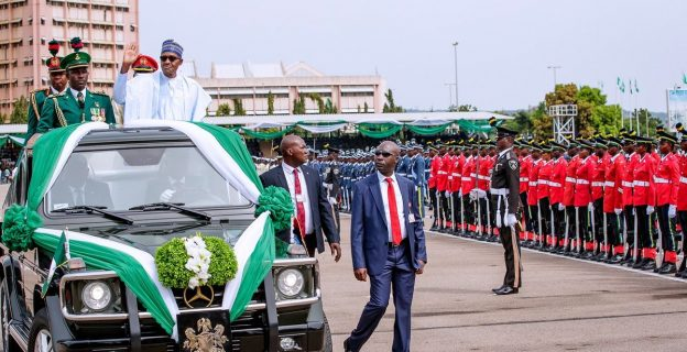 Buhari, Osinbajo, Gowon at 58th Independence Day celebration