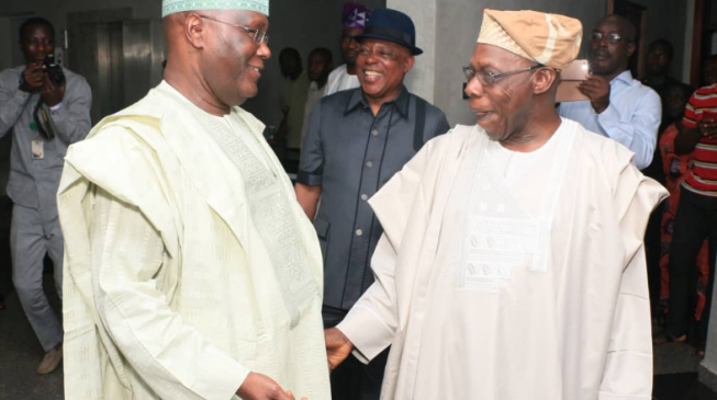 You must sue Obasanjo to clear your name, Oshiomhole tells Atiku
