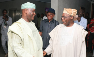Atiku storms Obasanjo's residence with PDP leaders