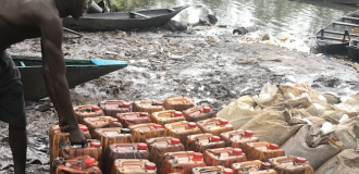 UNDERCOVER: Inside Niger Delta creeks where oil thieves feed fat after bribing soldiers with millions