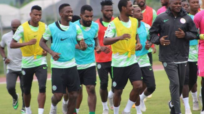PHOTOS: Super Eagles train ahead of Libya clash