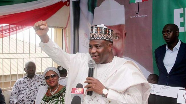 Tambuwal 'not listed' by INEC as PDP guber candidate in Sokoto