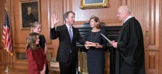Brett Kavanaugh sworn in as US supreme court justice