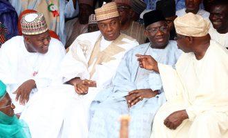 Jonathan, Obasanjo in Yola as Atiku becomes new Wazirin Adamawa