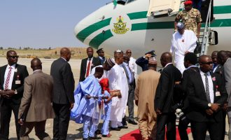 PHOTOS: Buhari in Maiduguri for COAS conference