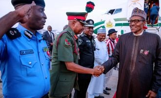 PHOTOS: Buhari returns — after five days in Paris