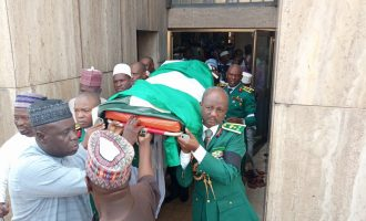 VIDEO: General killed in Plateau buried in Abuja