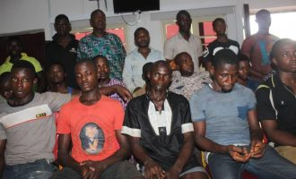 PHOTOS: Police parade suspected IPOB members who 'killed inspector'