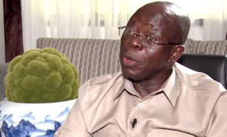 Oshiomhole: Saraki will be buried politically by February 2019