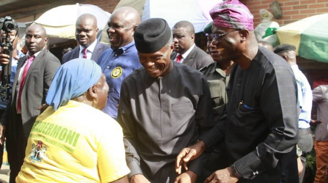 Southern, middle belt leaders accuse Osinbajo of 'bribing' voters with TraderMoni