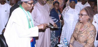 Oshiomhole, over 10 APC governors in Aso Rock as Buhari's reelection campaign kicks off