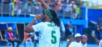 PHOTOS: Rudeboy thrills Super Eagles' fans at Stephen Keshi Stadium