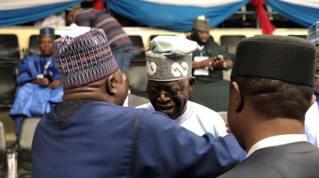 TRENDING VIDEO: Tinubu throws away APC flag at Ogun rally