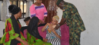 PHOTOS: Army pays condolence visit to widow of fallen hero