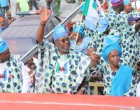PHOTOS: Mammoth crowd as APM unveils Amosun's candidate for guber race