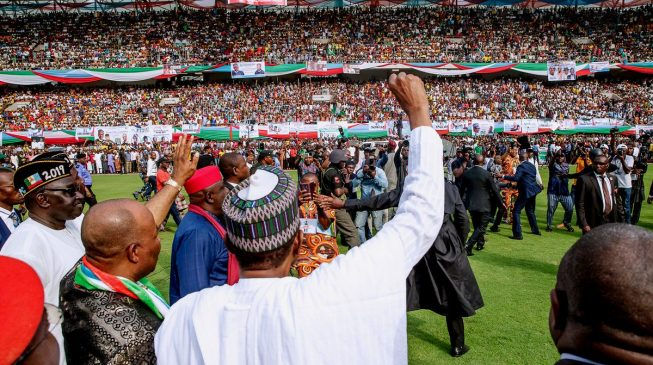 Buhari dancing on the graves of innocent Nigerians, says Secondus on APC rally