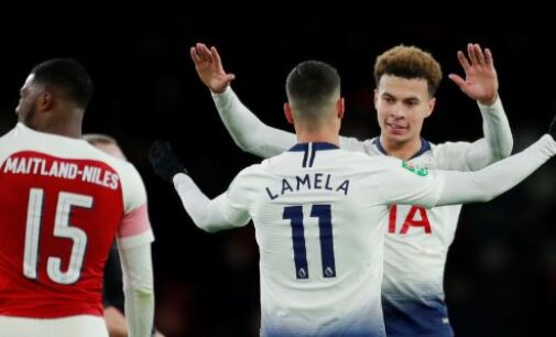 London affair: Spurs beat Arsenal to set up semi-final clash with Chelsea