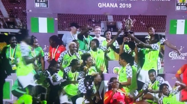Super Falcons set new record, win 9th AWCON title