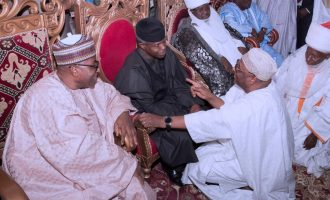Mu'azu, ex-PDP chairman, holds 'strategic meeting' with Osinbajo at Aso Rock