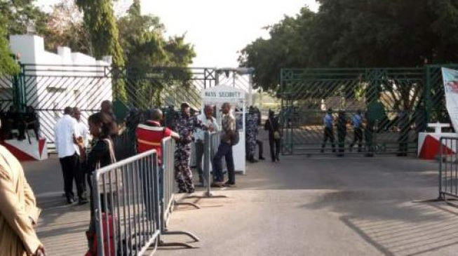 Security tightened at n'assembly ahead of Buhari's budget presentation