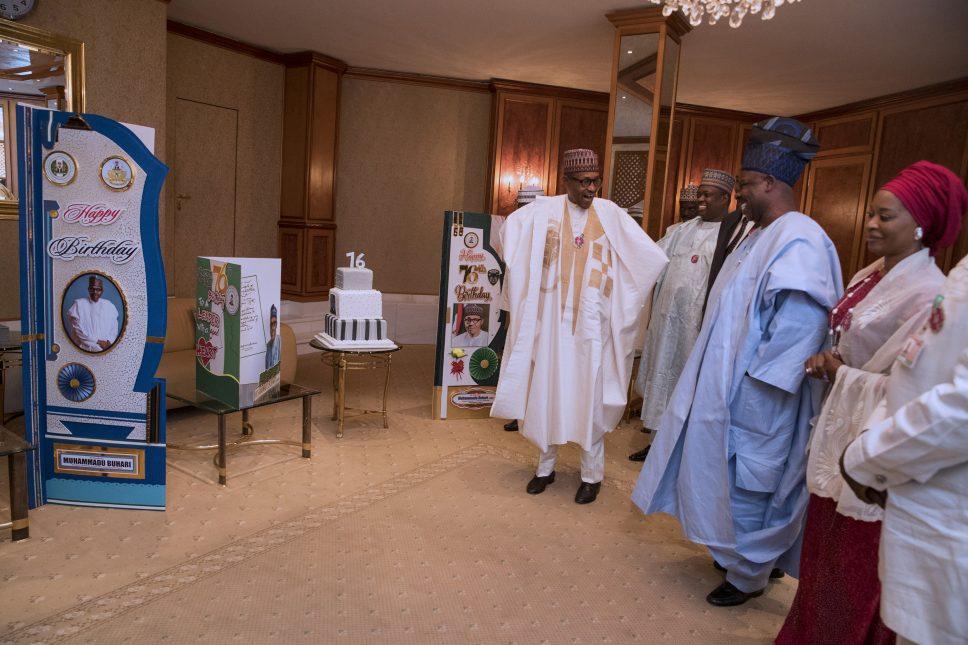 Buhari marks 76th birthday at Aso Rock