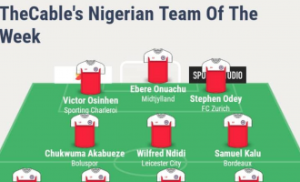 Akpeyi, Ndidi, Odey… TheCable's team of the week