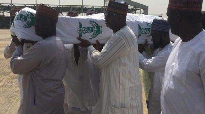 PHOTOS: Shagari makes final journey from Abuja to Sokoto