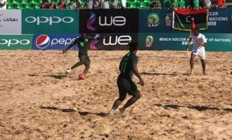 Super Sand Eagles thump Libya to bounce back in Beach Soccer AFCON