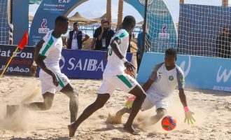 Super Sand Eagles lose first game of Beach Soccer AFCON to Senegal
