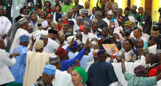 Booing of Buhari shows Saraki, Dogara 'have lost grip' of the national assembly
