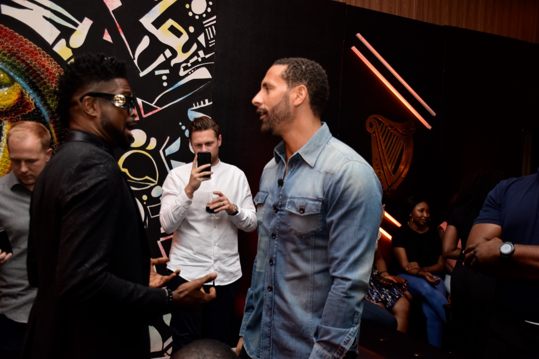 Rio Ferdinand and Basketmouth