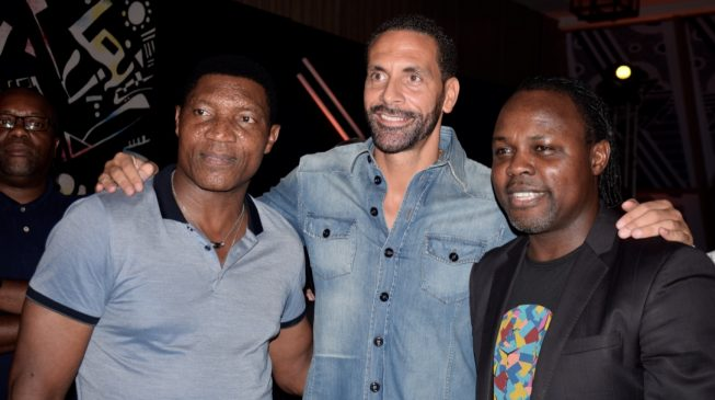 PHOTOS: Rio Ferdinand visits Lagos, unveiled as 'Made of More' ambassador