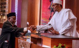 VIDEO: The moment Buhari swore in new CJN