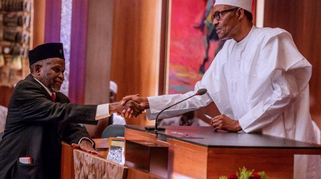 VIDEO: The moment Buhari swore in new CJN